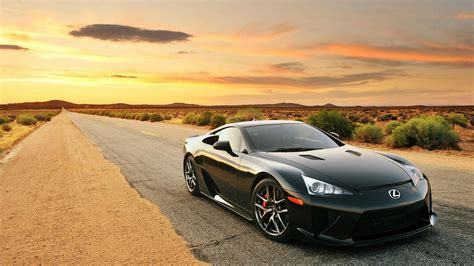 lfa lexus black black lexus lfa on desert hd desktop wallpapers 1080p