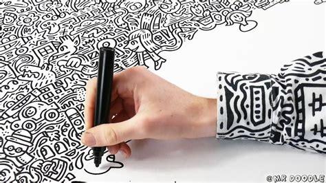 mr doodle mr doodle doodles a canvas