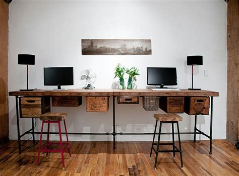 Office Desk Idea 25 Ingenious Ways To Bring Reclaimed Wood Into Your Home Office