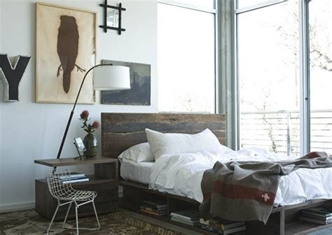 reclaimed wood platform beds farmhouse bedroom chicago  zin home