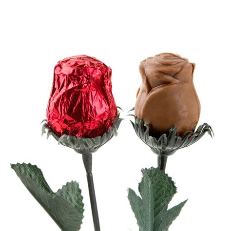 sweet heart milk chocolate foiled roses red 48ct chocolate candy flowers bulk