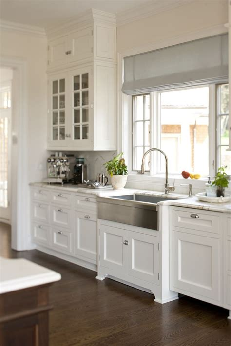 White Farmhouse Kitchen Sink Stainless Steel Farmhouse Style Kitchen Sink Inspiration The Happy Housie