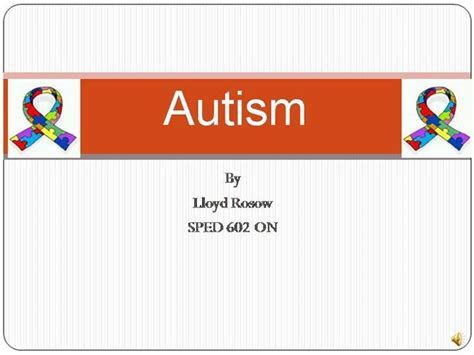 Powerpoint Revised Autism Authorstream Autism Powerpoint Template Free
