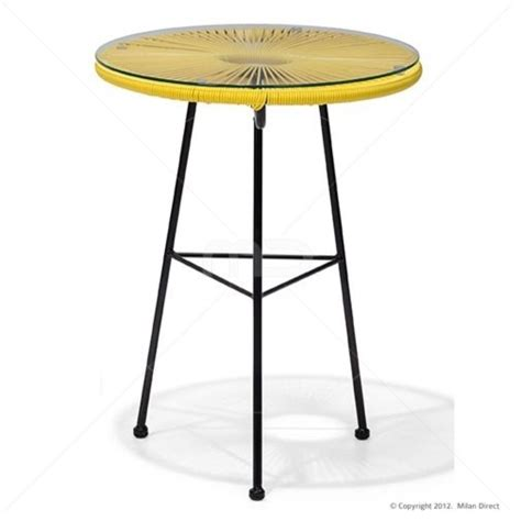 Yellow Side Table Uk Acapulco Side Table Replica Outdoor Wicker Yellow Contemporary Garden Side Tables