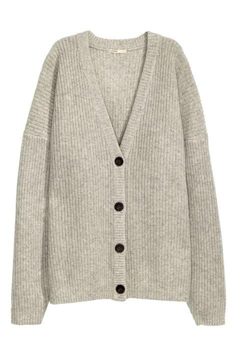 Cardigan Lp 5 knit wool cardigan light gray melange sale h m us