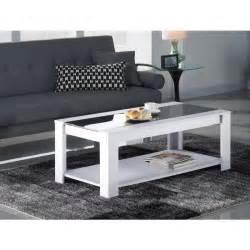 damia table basse 110 cm blanc et noir achat vente