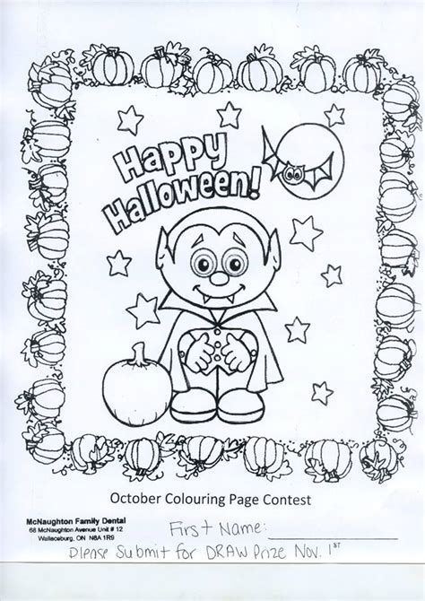 halloween dental coloring page mcnaughton family dental halloween colouring contest