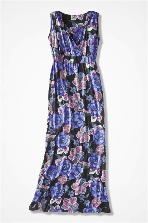 Maxi Dress Batik Songket 783 floral batik maxi dress coldwater creek