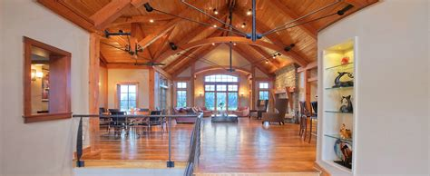 Building A Gambrel Roof by Home Custom Timber Frame Homes