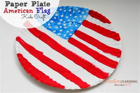 American Paper Crafts - paper plate american flag craft