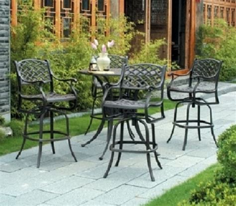 patio furniture bar height newport by hanamint luxury cast aluminum patio furniture