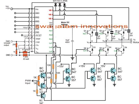 ac induction motor circuit 3 phase induction motor speed controller circuit