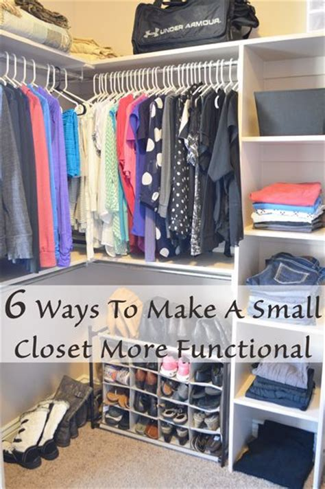 organizing small closet 6 ways to make a small closet more functional