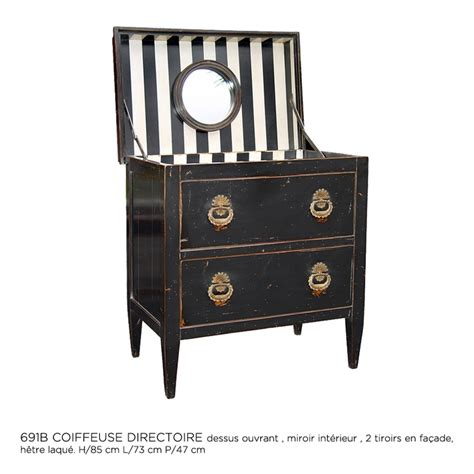 moissonnier möbel moissonnier chest of drawers with black and white stripes