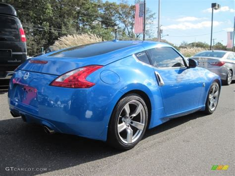 monterey blue 2009 nissan 370z coupe exterior photo