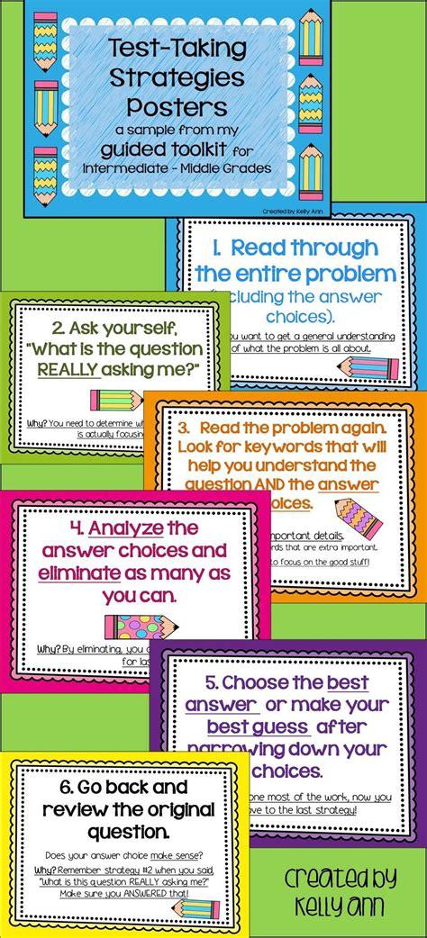 free test free test taking strategies posters for intermediate