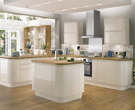 Howdens Kitchen Design by Bayswater Gloss Ivory Kitchen Contemporary Kitchens