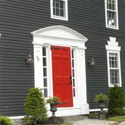 grey house red door 1000 images about house redo on pinterest grey houses white trim and dark grey houses
