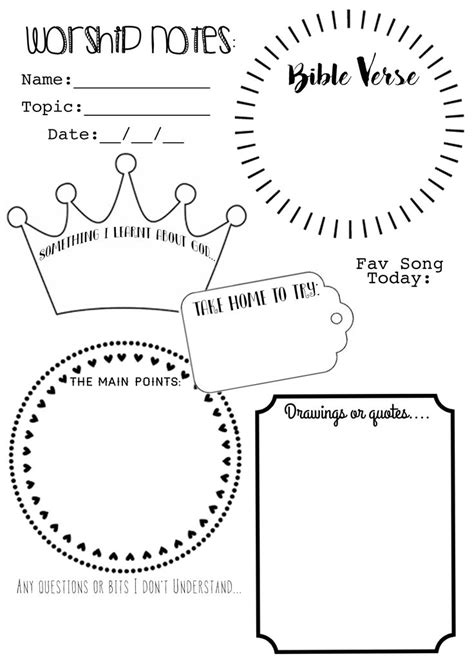 ive    worship notes sermon notes  printable