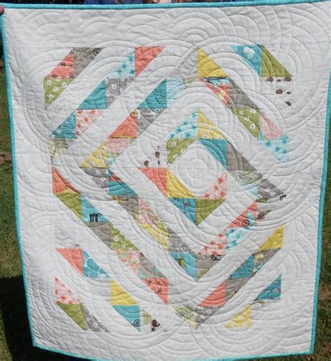 How To Quilt A Cake With A Ruler by Layer Cake Leftovers Cot Quilt Quilted With Westalee