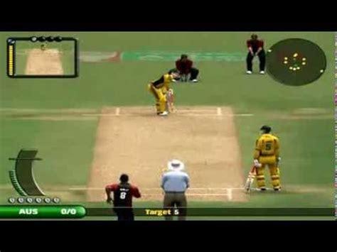 cricket tricks ea sports cricket bowling tricks between australia vs