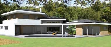 maison contemporaine d architecte 224 toiture tuiles noires