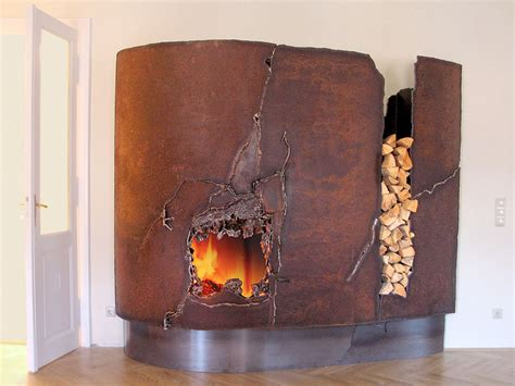Metal Fireplace Mantel by Fireplace Mantels And Sculptures From Metal Artist Gahr