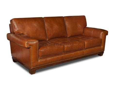 Rustic Top Grain Leather Modern Sofa W Optional Items Leather Sofa