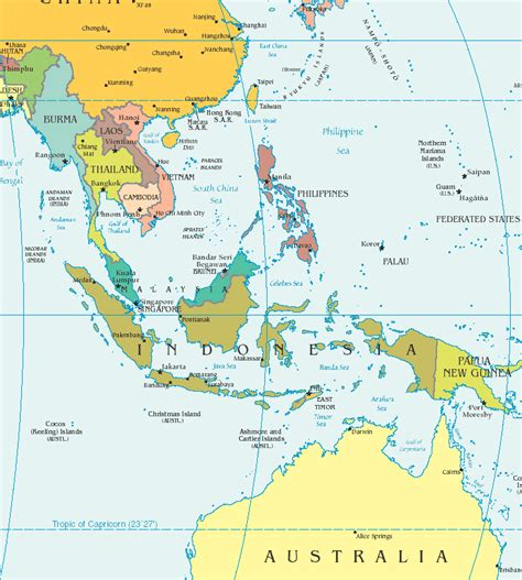 political map of southeast asia southeast asia detailed political map detailed political