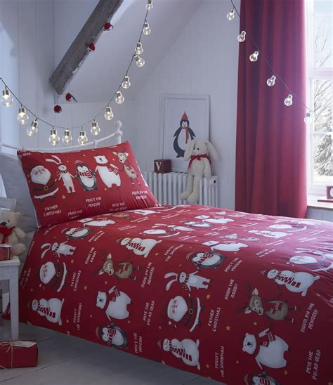 christmas bed sheets kids christmas bedding duvet cover bright colourful