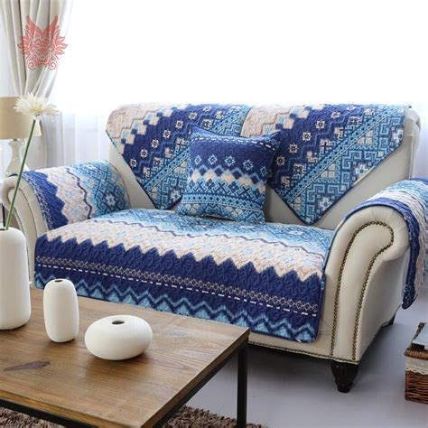 blue and white couch aliexpress com buy 110 210cm 1pc american style white