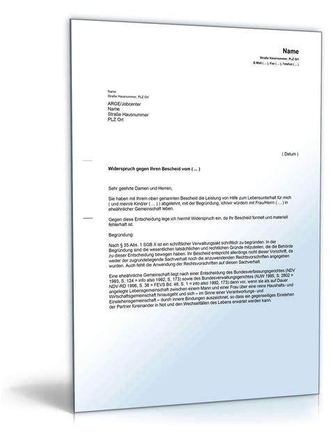 Musterbrief Widerspruch Gegen Rundfunkbeitrag widerspruch ehe 228 hnliche bedarfsgemeinschaft vorlage zum