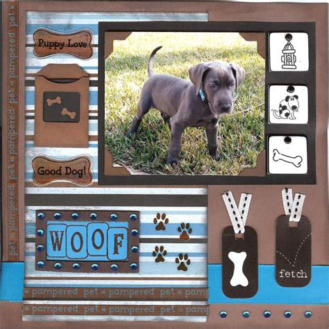scrapbook layout ideas for pets 1 photo dog scrapbook layout scrapbook ideas pinterest
