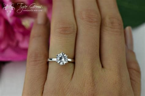 1 5 carat 6 prong solitaire engagement ring cut
