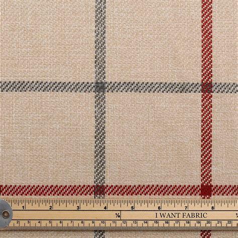fine upholstery fabrics next fabrics carbon ruby natural window pane tartan check