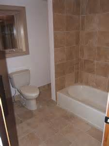 Bathroom Floor Tile Patterns Ideas Tub Tile Matching Floor Tile Mixed With Drywall
