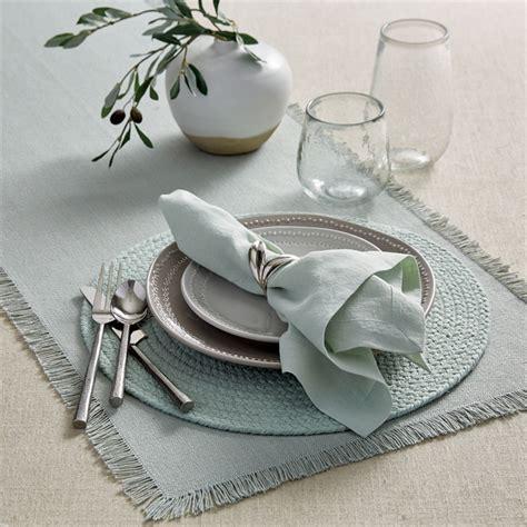Placemat Pandan Nature Placemat Table Runner 3545cm Brownyellow seafoam linen cloth napkin 20 quot split p