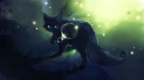 anime black cat wallpaper  desktop wallpapers hd
