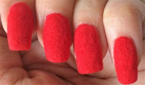 easy nail art at home youtube red velvet nail art ars arts easy flocking nails at