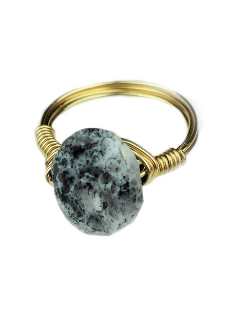 Opal Dendrite dendrite opal wrapped ring bloom jewelry