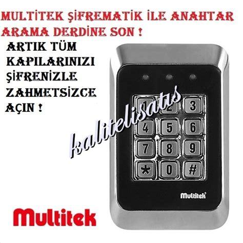 multitek sifreli kapi kilidi sifrematik  alarm