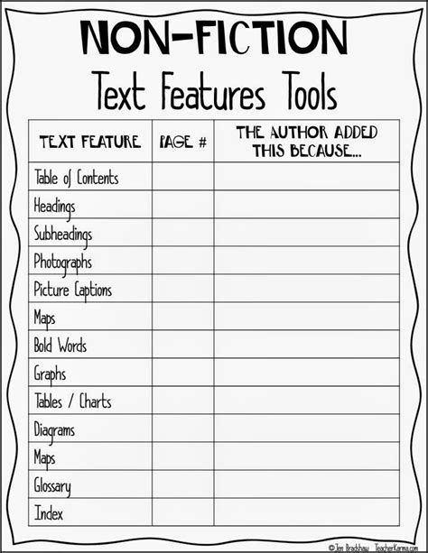 Text Structure Worksheets 5th Grade by 14 Best Images Of Text Features Worksheet 5th Grade