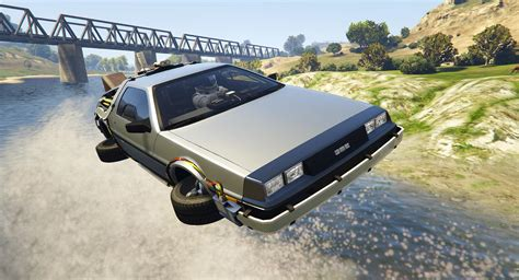 mod gta 5 flying delorean dmc12 bttf2 flying 3in1 add on gta5
