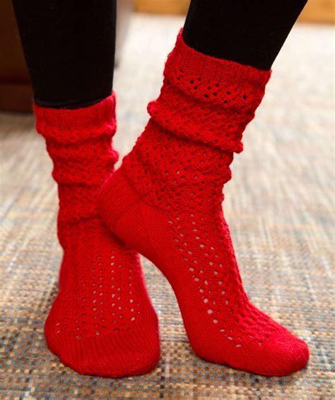 knitting pattern lace socks make mine lace socks free knitting pattern from red heart
