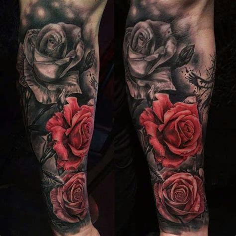 red rose tattoo for men pin by don veronesi on sleeves tattoos