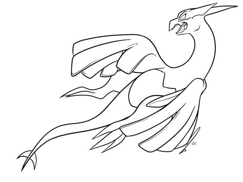 pokemon coloring pages lugia shadow lugia lines npf by jaclynonacloudlines on deviantart