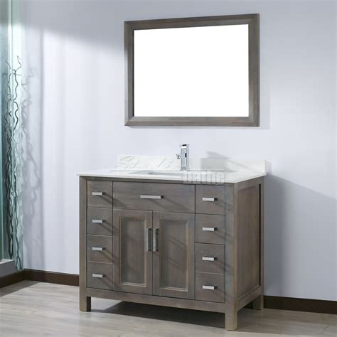 42 Inch Bathroom Vanity Cabinet 42 Gray