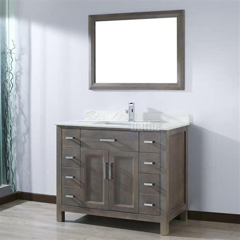 """IKOU Inc Kelly 42"""" Traditional Single Sink Bathroom Vanity"""