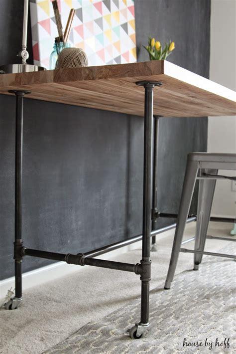 pipe desk diy diy piping table house by hoff