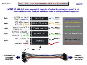 lian li front panel wire harness pin out diagram solved windows 7 help forums